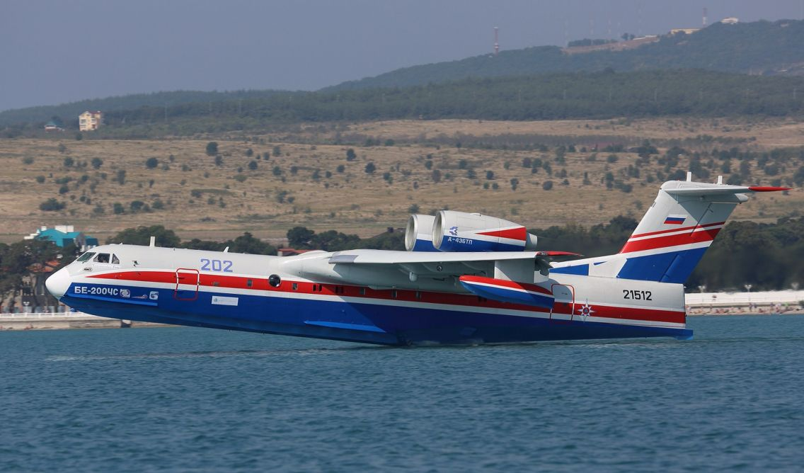 Beriev BE-200 amphibious aircraft