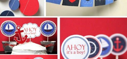 Ideas para decoracion de baby shower estilo nautico - Decoracion estilo marinero ...