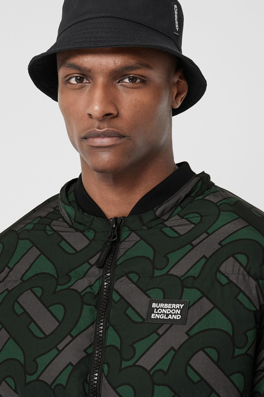 Burberry Plasters The Monogram Print On A Trio Of Colorful Puffer Jackets Monogram Prints Puffer Jackets Colorful Puffer [ 1280 x 853 Pixel ]