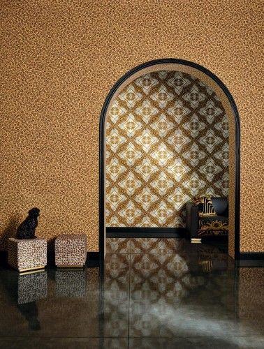 Fantastisch Tapete Versace Home Zebra Ornamente Braungold Metallic 34904 3