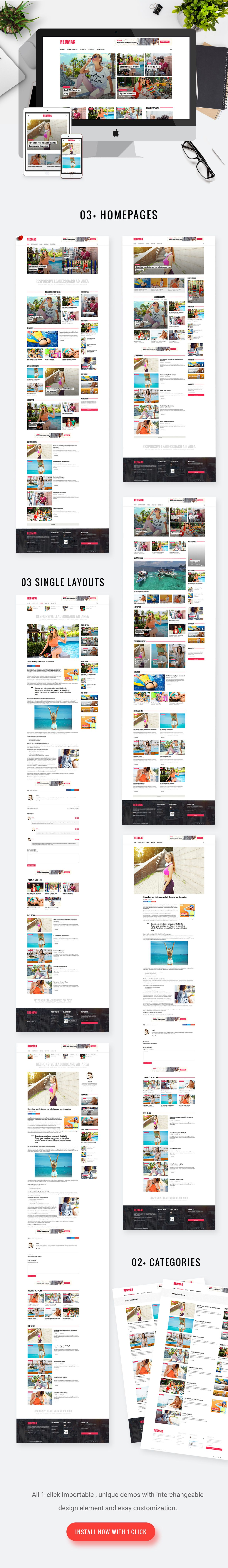RedMag - AdSense Optimized & Entertainment News Theme | Wordpress ...