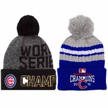 2016 Skullies World Series Champs Chicago Cubs Knit Cap Beanie Hat Gold  Rally 950e586ceee