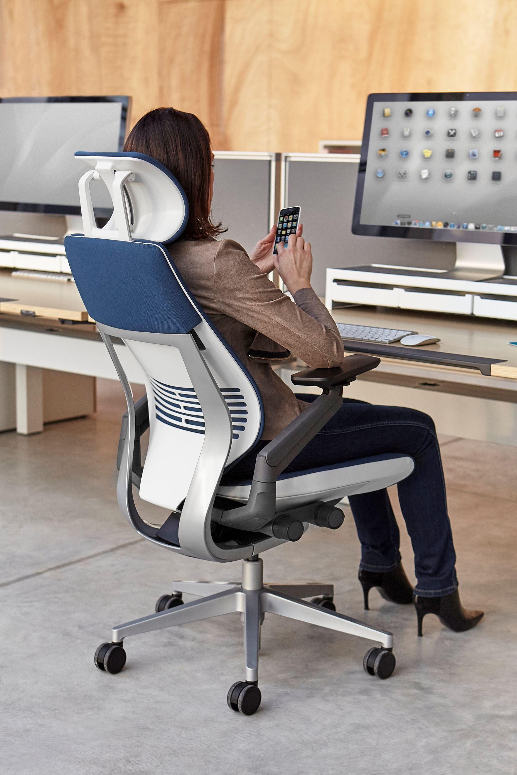 Gesture Headrest Steelcase Works Chair Working