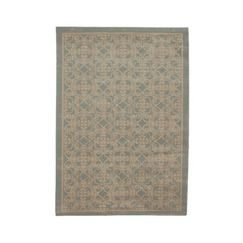 Fieldcrest 174 Luxury Blue Ironwork Area Rug 5x8 Quick