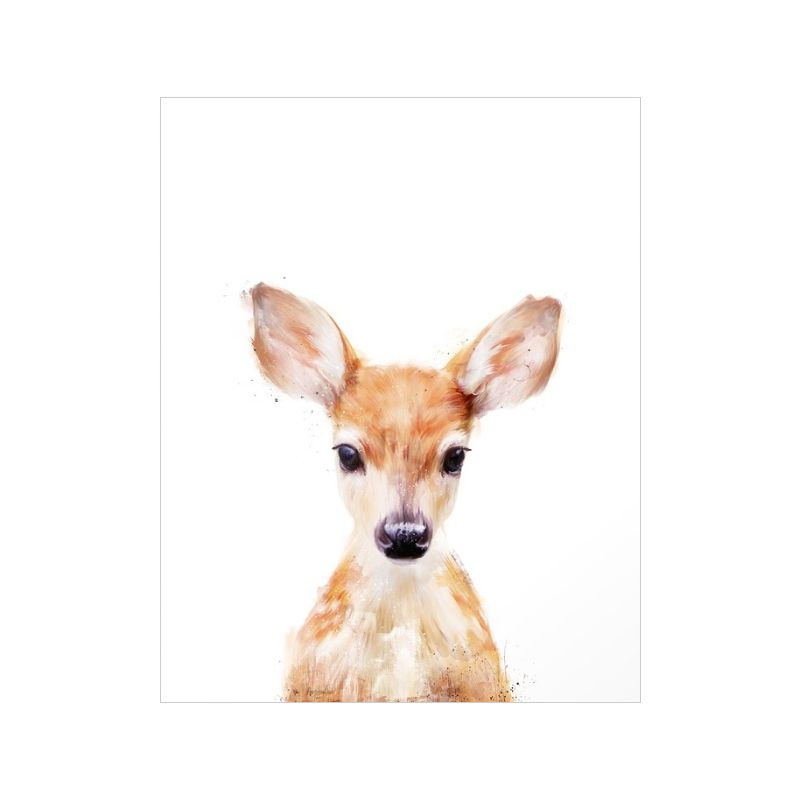 Animal lovers will adore this darling Woodland Doe Canvas Print. Peeking out from the bottom of this bright white print, this charming fawn will make a gorgeous addition to any nature-themed or rustic ...  Find the Woodland Doe Canvas Print, as seen in the Art Collection at http://dotandbo.com/category/decor-and-pillows/for-the-wall/art?utm_source=pinterest&utm_medium=organic&db_sku=121651