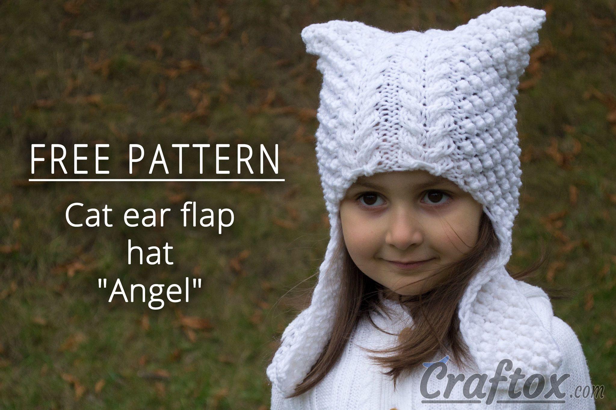 Cat ear earflap hat \