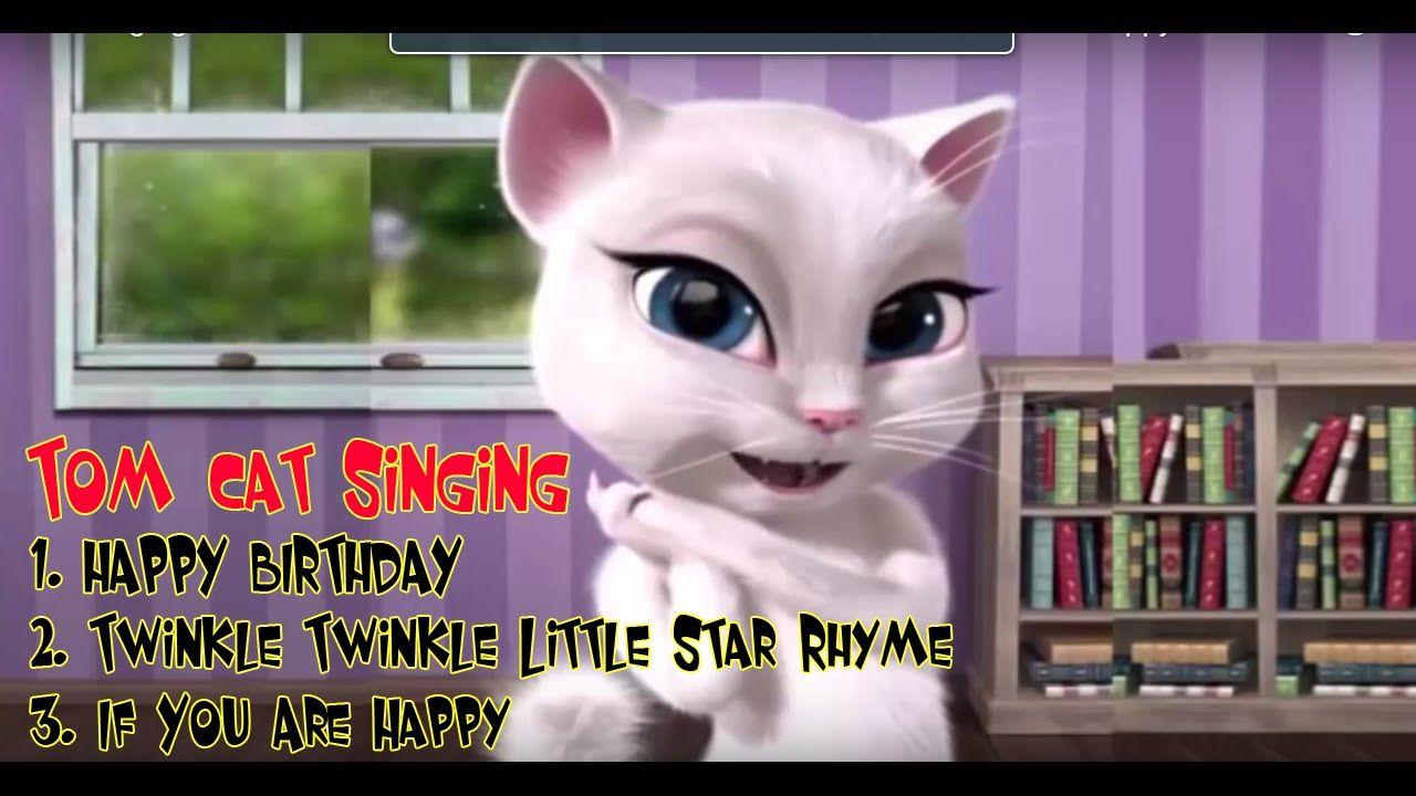 Tom cat Singing HAPPY BIRTHDAY Twinkle Twinkle Little