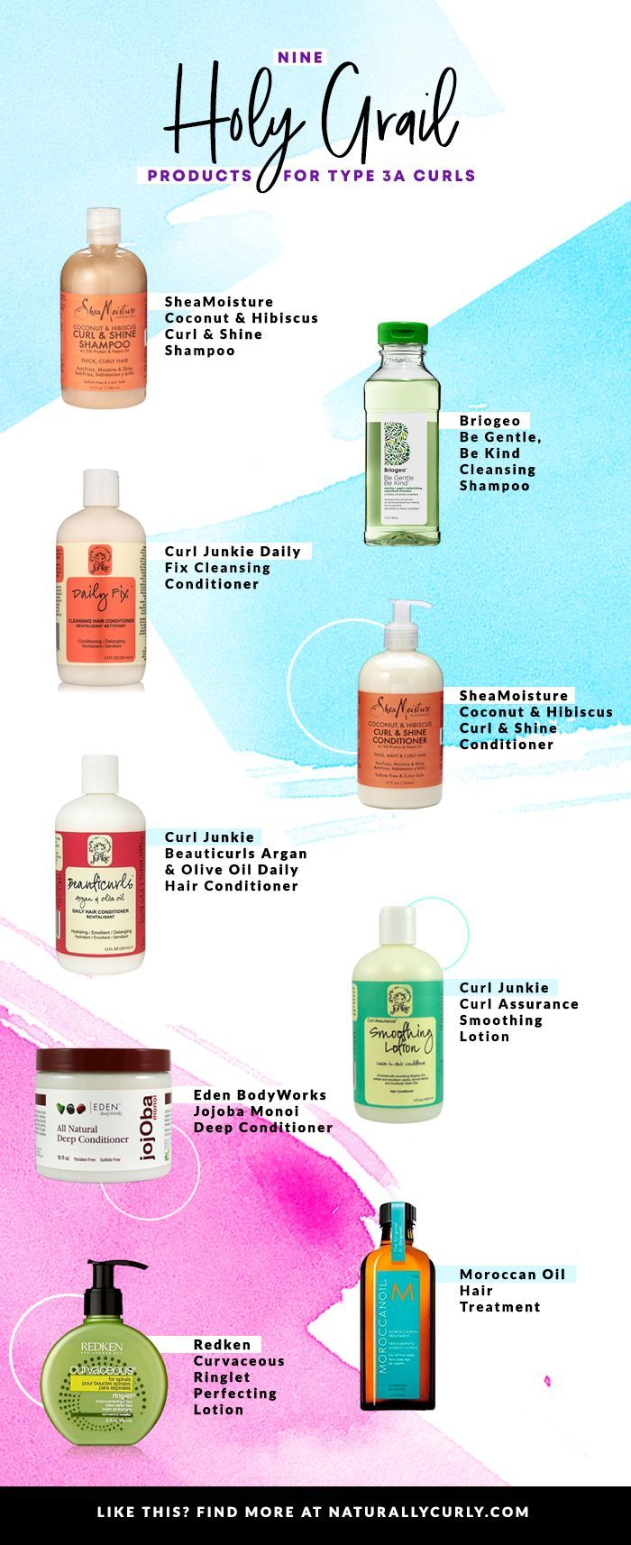 9 Holy Grail Hair Products For Type 3a Curls Curls Grail