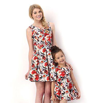 mejor sitio web originales de calidad superior Vestidos para madre e hija con diseño floral | Vestidos mama ...
