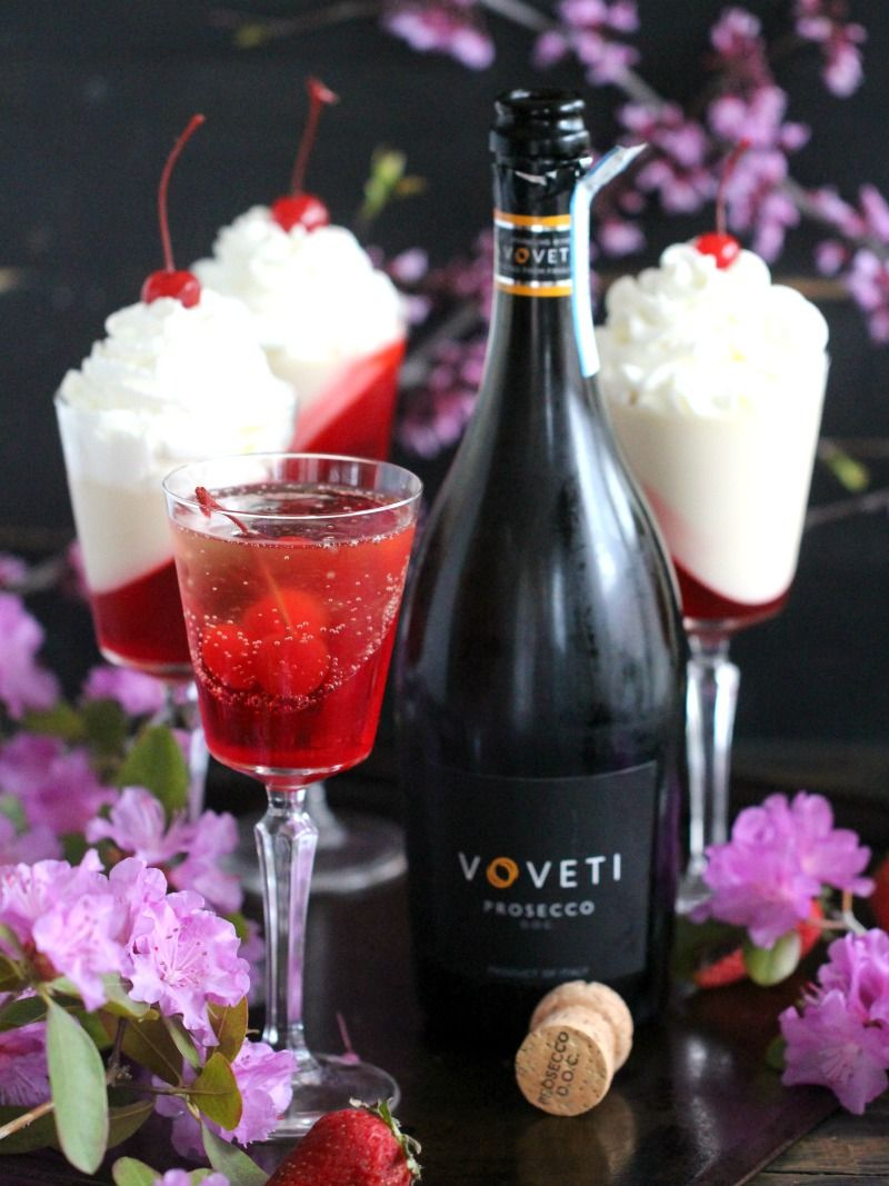 Strawberry Prosecco Jelly Cocktails Sweet And Savory Meals Recipe Edible Cocktails Prosecco Cocktails