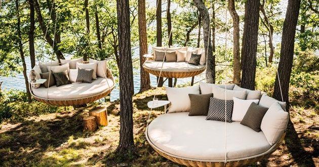 Gartendeko Ideen mit Hängesessel und Hängematte - fresHouse - hangematten fur terrasse garten sommerliches flair