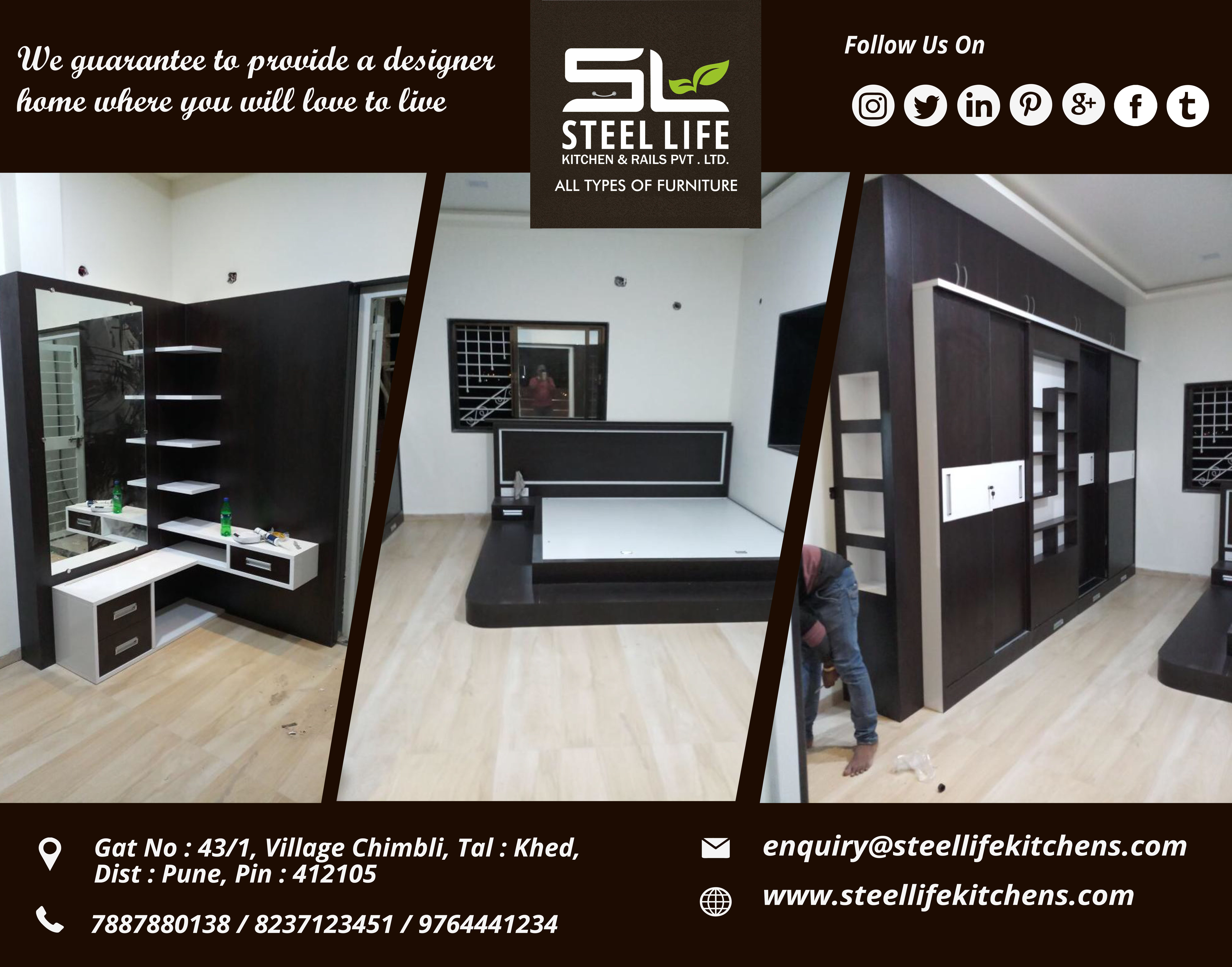 Steel Life Kitchen Rails Is A Pune Based Interior Design Firm