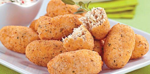 Croquete de frango e queijo