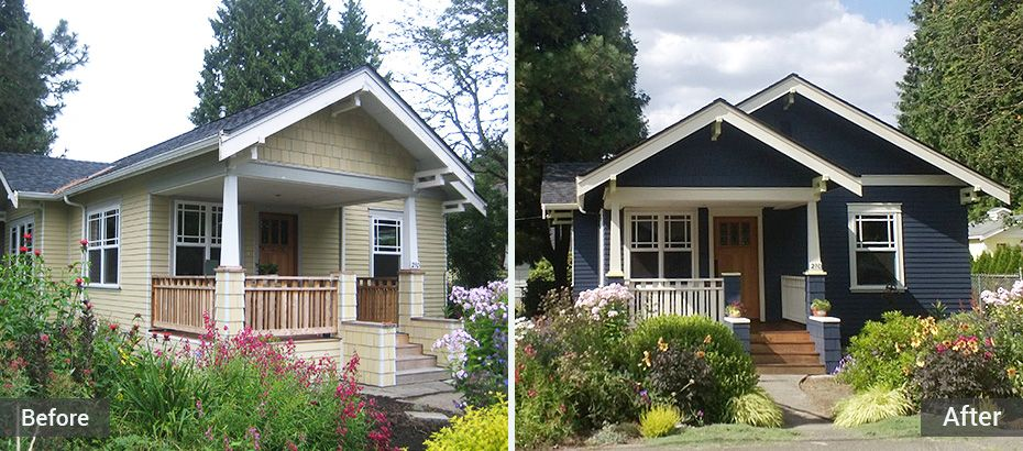A craftsman house in issaquah has been lovingly restored for Craftsman corbels exterior