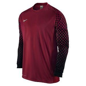 reputable site ce738 0bc6d Nike Long Sleeve Park III Goalie Black Red Goalkeeper Jersey ...