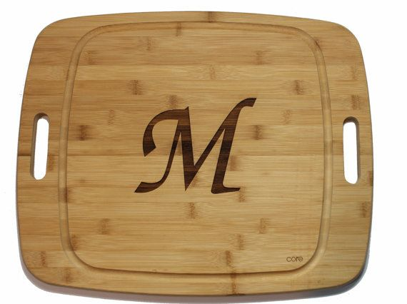 Monagrammed Serving Board by ByTheBayCreationsMD on Etsy, $70.00
