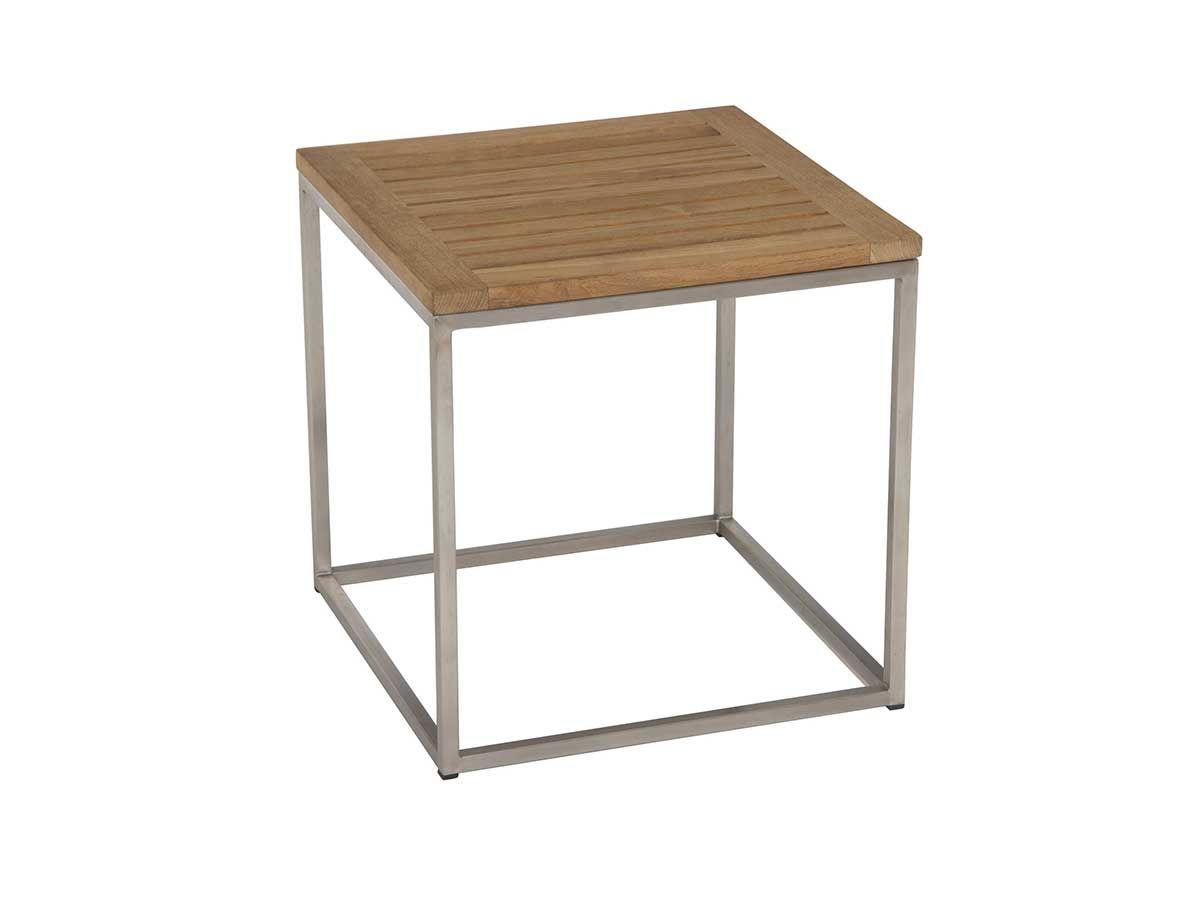 Stern Gartentisch Beistelltisch Edelstahl Teak 45x45 Cm Stern