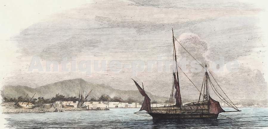 """""""Un lougre armé à la traite"""", 1837"""