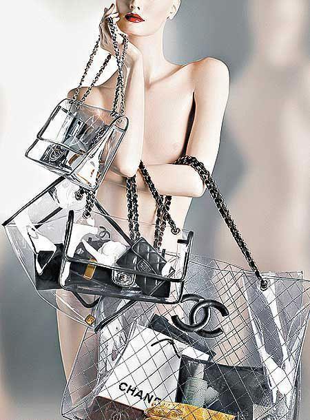 3d483e21d868 Chanel pvc bags