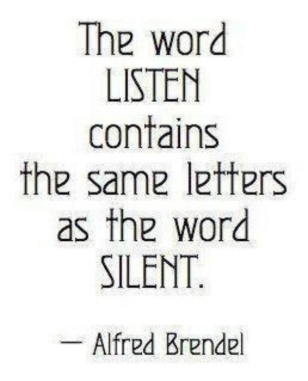 Listen silently