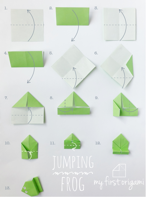 How To Fold EASY ORIGAMI JUMPING FROGS This Jumping Frog Is The