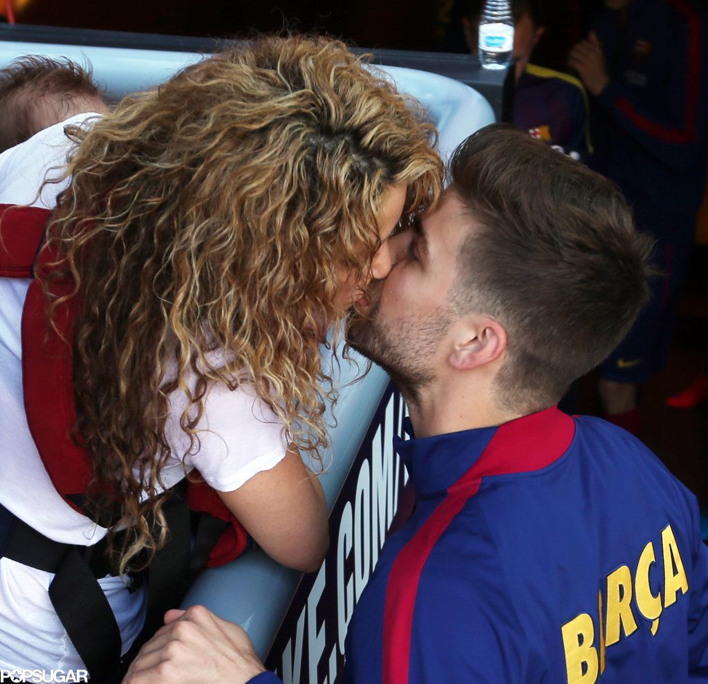 Shakira Brings The Kids To Cheer For Gerard Pique See The Cute