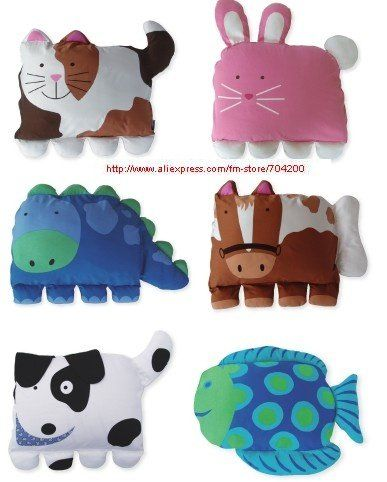 Animal Shaped Eye Pillow : Special offer 1pcs 6 designs Children s pillow case/pillow cover/pillowcase/animal shaped ...