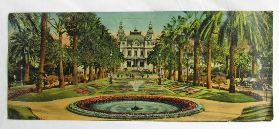 HandTinted Photos Monte Carlo Casino and Gardens by AcadianCrochet ...