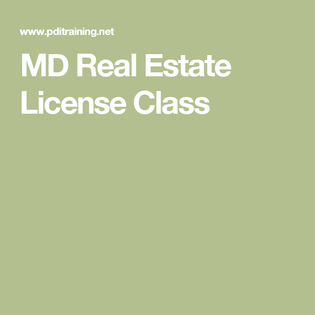 md real estate license class | you should know | pinterest