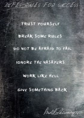 Lifes Rules For Success The 6 Rules By Arnold Schwarzenegger Mit