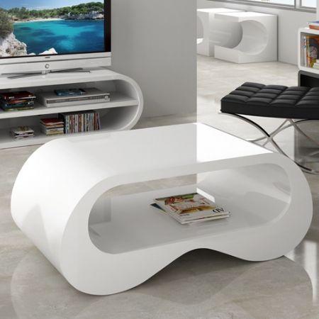 Mesa de centro pop 74 mesa lacada blanca brillo mesas for Mesas de centro modernas y baratas