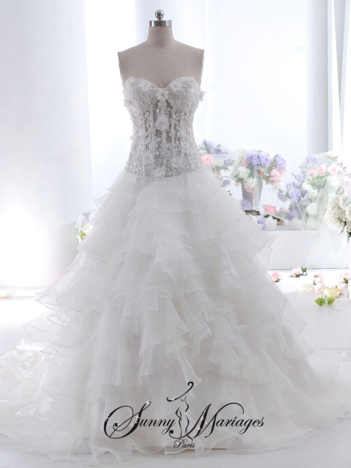 Épinglé sur Robes de mariées transparentes