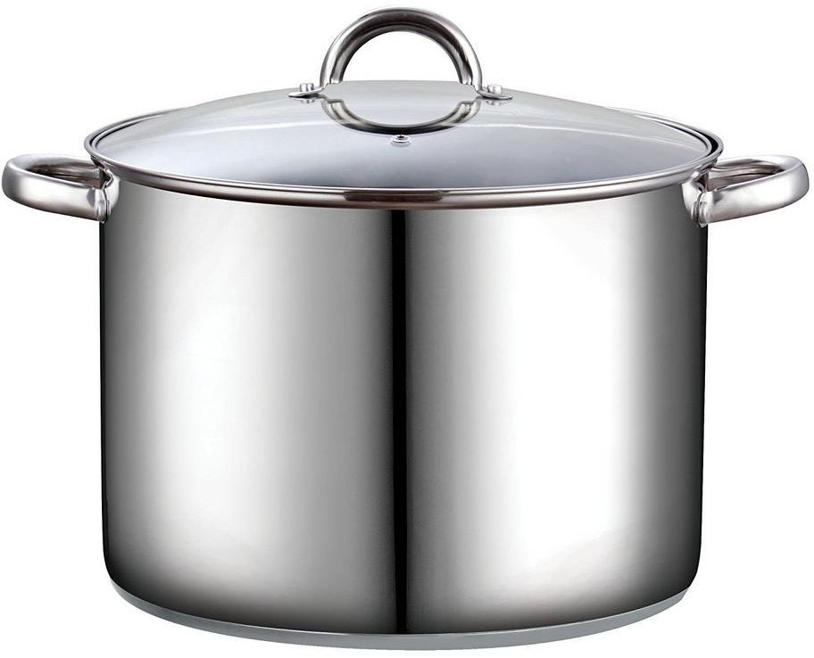 16 Qt Large Stainless Steel Cookware Stock Cooking Pot With Clear