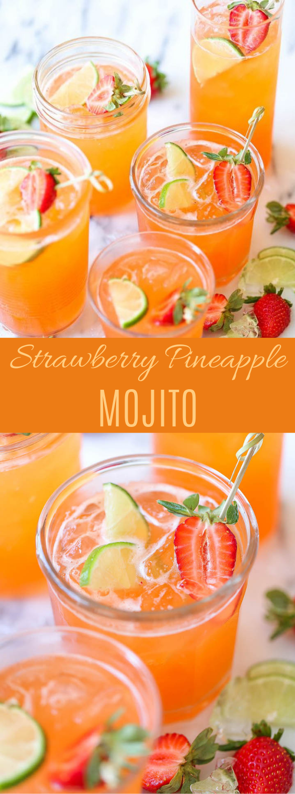 Strawberry Pineapple Mojito #cocktail #summerdrink