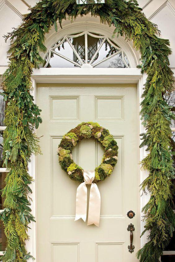 Best Beautiful Front Door Christmas Decorations {Part 1} | Front ...