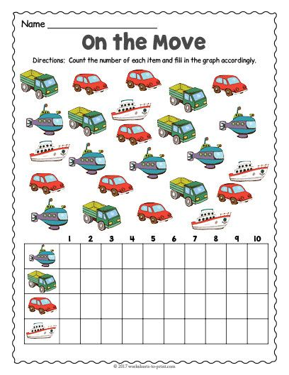 free printable transportation count and graph worksheet counting worksheets transportation. Black Bedroom Furniture Sets. Home Design Ideas