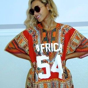 Beyoncé in a Vlisco Angelina design inspired fashion look