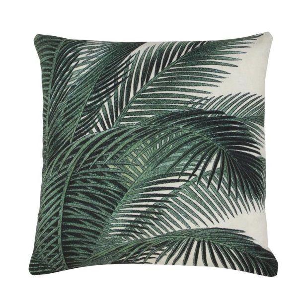 Hkliving Kussen Print 45 x 45 cm - Palm Leaves - Tuin, Kussens en ...