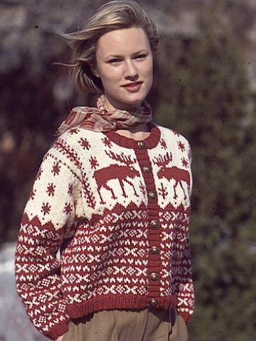 Nordic Cardigan   Yarn   Knitting Patterns   Crochet Patterns ...