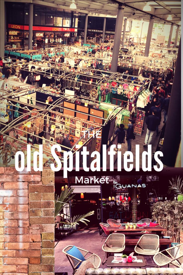 Gutes Essen, shopping und entspannte Atmosphäre in London, ganzwöchig geöffnet. Old Spitalfields Market nahe Liverpool Street Station.