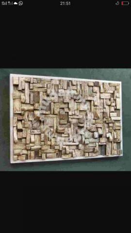 Wall from pallet wood, jati wood - Furniture & Decoration ...