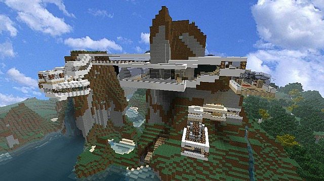 Minecraft Modern Mountain Houses