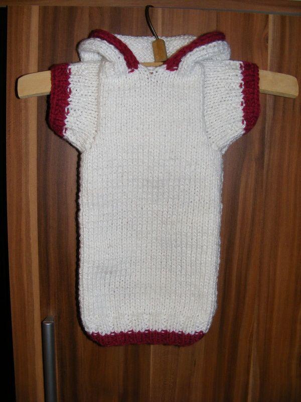 KÖTÖTT HOLMI saját készítésű kötött-horgolt pulóverek - Képgaléria -  Kutyaruhák - Fehér kapucnis 4d06d77407