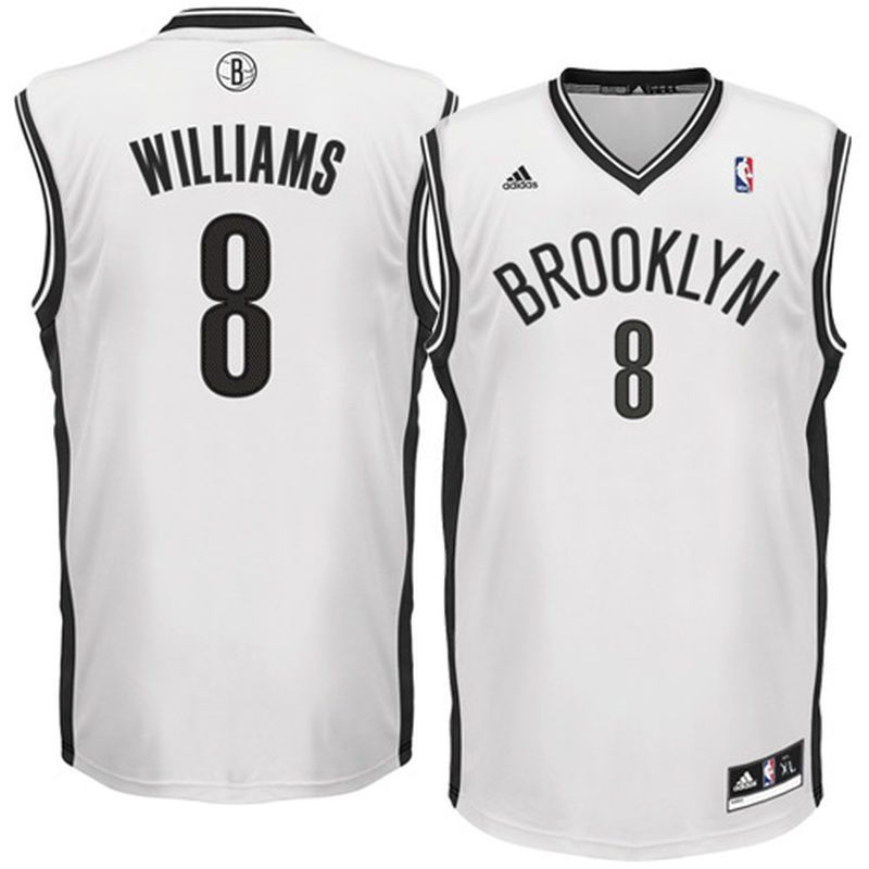 b1b0a81955c0b Deron Williams Brooklyn Nets adidas Youth Replica Home Jersey - White Adidas  Nba Jersey