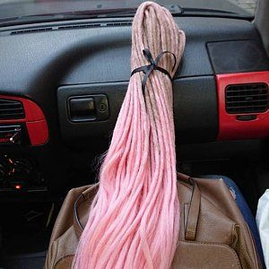 Synthetic dreads , Strawberry ice cream set double ended ...