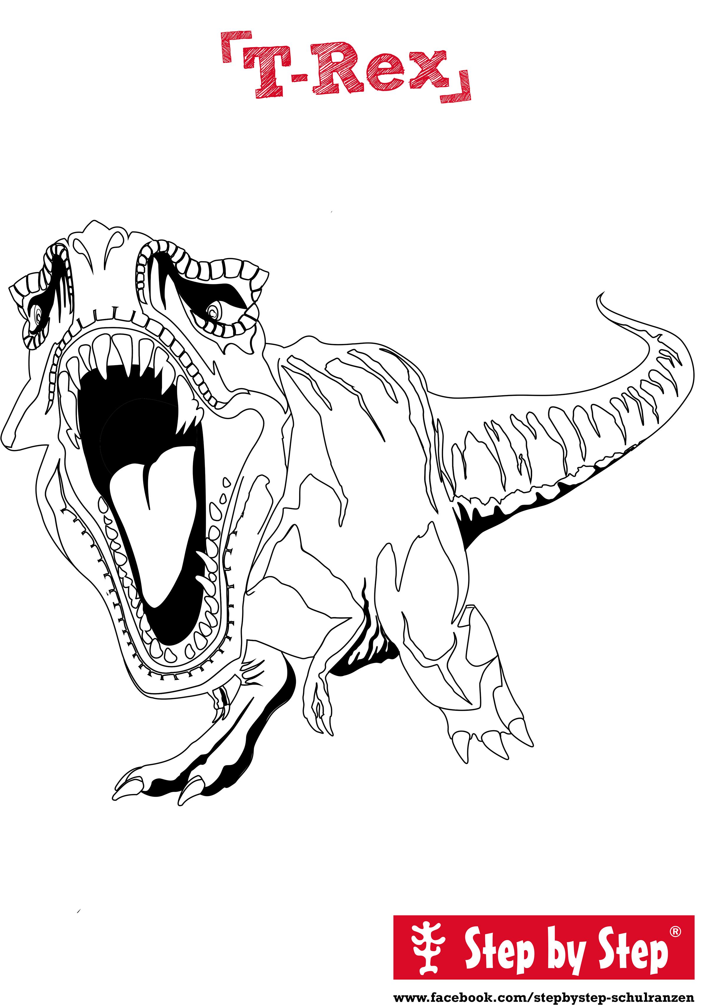 Malvorlage T-Rex Malvorlagen Zeichnen Zeichentechniken