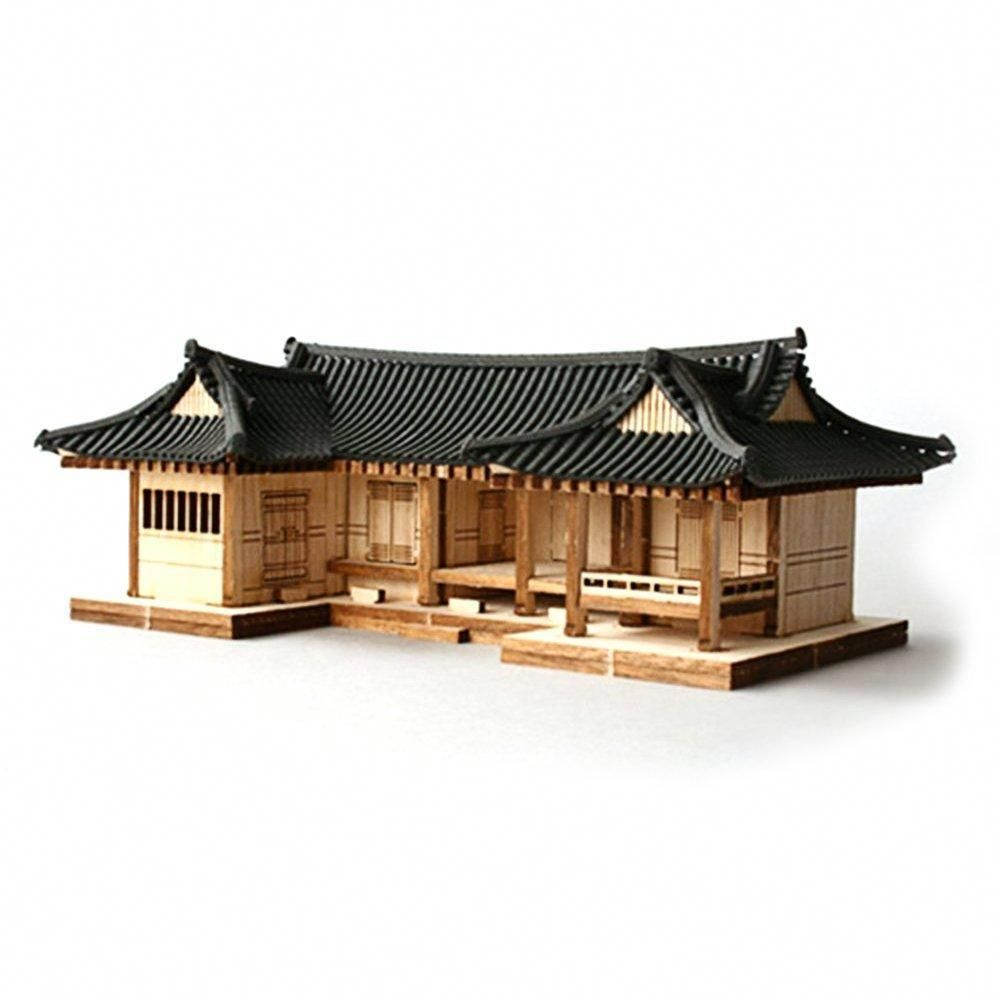 Wooden Model Kit 3D Puzzle Korean Digeut Shape Hanok