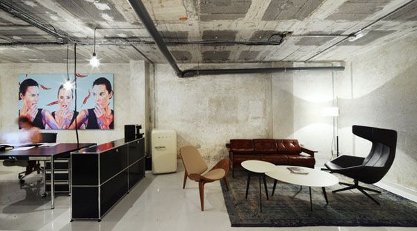 DZine Trip | Old Basement Warehouse Transformed Into A Minimalist Office  Space: Popup Office By Amazing Design