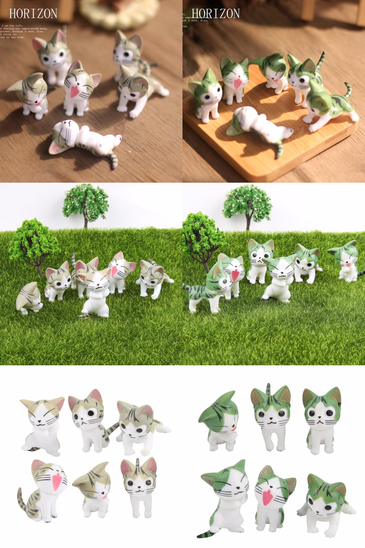 Visit to Buy] 6 pcs /set Mini Cat Moss Micro World Bonsai Garden ...
