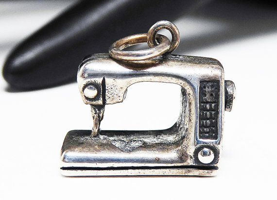 New Listings Daily - Follow Us for UpDates -  Sterling Silver Sewing Machine Charm - Sterling Charm for Quilt Sewng Charm -  signed Peter Jon Sterling - Sisters Oregon Artist 925 offered by #TheJewelSeeker on Etsy.  Pet... #vintage #jewelry #teamlove #etsyretwt #ecochic #thejewelseeker ➡️ http://etsy.me/2jDfrwT
